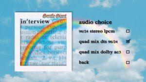 DVD Menu gentle giant interview