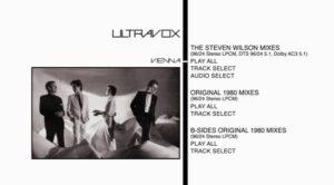 Ultravox Vienna DVD Menu