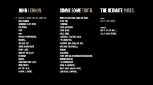 John Lennon Gimme Some Truth Ultimate Mixes Blu-ray Menu