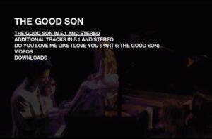 Nick Cave The Good Son DVD Menu