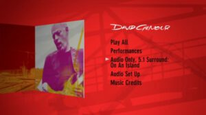 David Gilmour Live In Gdansk On An Island DVD
